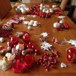 Plukket ned julepynten