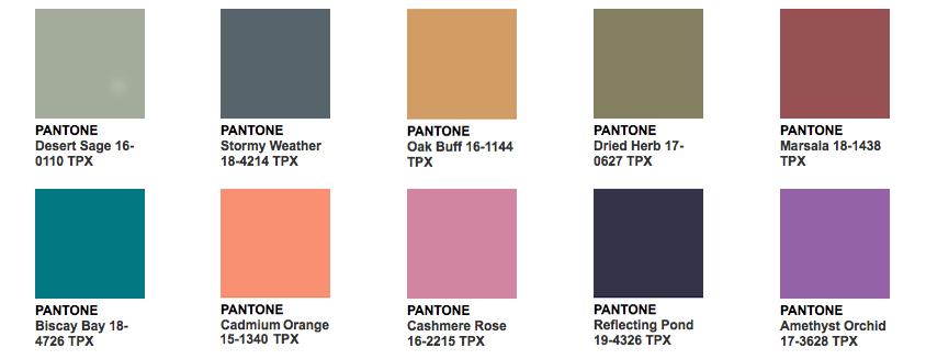 Pantone Fall 2015 2