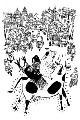 Illustrasjonene i boken er laget av Natalya Balnova.
